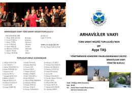 Türk Sanat Müziği Topluluğu Davetiyesi için tıklayınız.