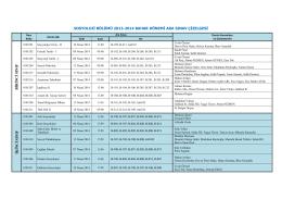 sosyoloji bölümü 2013-2014 bahar dönemi ara sınav çizelgesi b irin