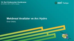 Mekânsal Analizler ve Arc Hydro