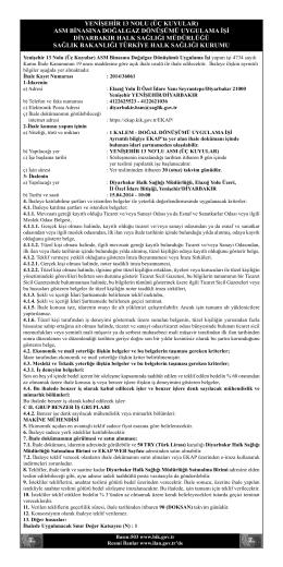 YENİŞEHİR 13 NOLU (ÜÇ KUYULAR) ASM BİNASINA DOĞALGAZ