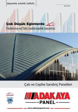 Çatı ve Cephe Sandviç Panelleri