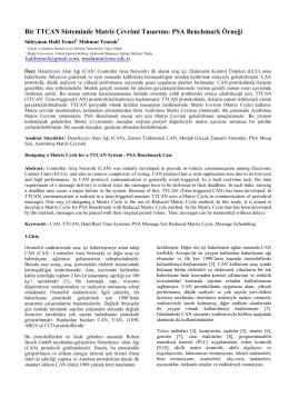 Bir TTCAN Sisteminde Matris Çevrimi Tasarımı: PSA Benchmark