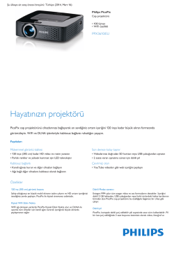 Product Leaflet: 100 lümen WiFi özellikli Cep projektörü