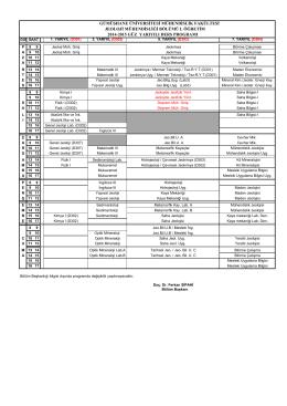 2014-2015 Güz YY Ders Programı (SON HALİ) Dosya Boyutu