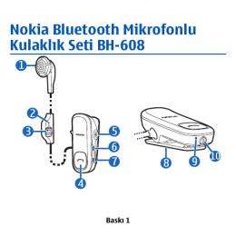 Nokia Bluetooth Mikrofonlu Kulaklık Seti BH-608