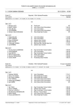 3 - 2.gün sabah seansı 03.12.2014