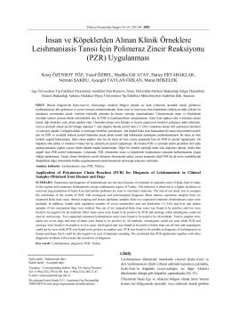şanlıurfa bölgesindeki sıtmalı hastaların plasmodium