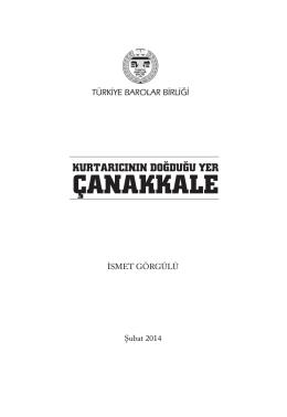 kurtarıcının doğduğu yer çanakkale - Türkiye Barolar Birliği Yayınları