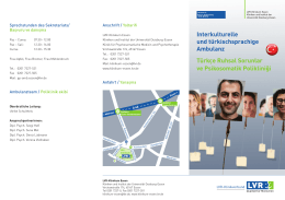 Flyer Interkulturelle Ambulanz (PDF, 352 kB) - LVR