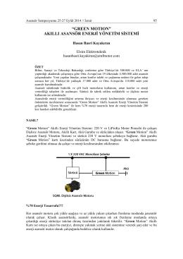 akıllı asansör enerji yönetim sistemi
