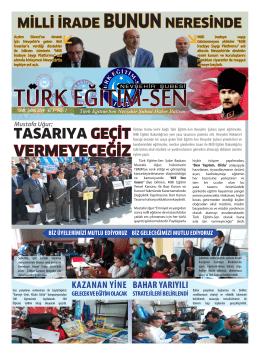 7. sayıyı okumak için tıklayınız - Nevşehir Türk Eğitim-Sen