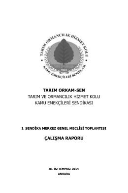 1. Meclis Çalışma Raporu - Tarım Orkam-Sen