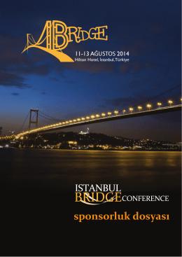 sponsorluk dosyası - Istanbul Bridge Conference 2014