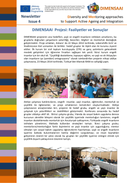 Newsletter Issue 4 DIMENSAAI Projesi: Faaliyetler ve Sonuçlar