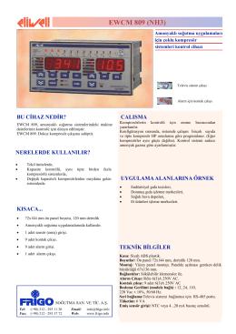 EWCM_809_TR - FRİGO SOĞUTMA SANAYİ ve TİCARET A.Ş.
