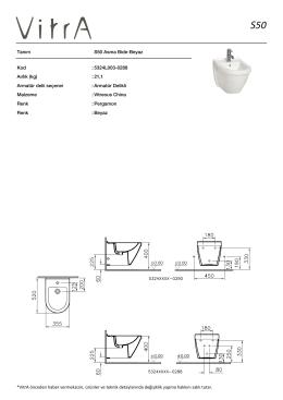 Tanım S50 Asma Bide-Beyaz Kod :5324L003-0288 Aırlık (kg