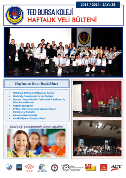 2013 / 2014 - SAYI: 25