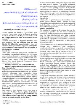 26.12.2014 Paha Biçilmez Sermaye Ömür