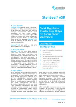 StenSeal® ASR - stenkim.com.tr
