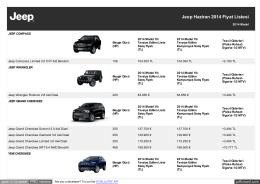 Jeep Haziran 2014 Fiyat Listesi