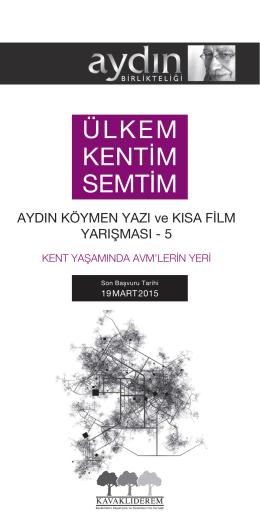AYDIN KÖYMEN YAZI ve KISA FİLM YARIŞMASI - 5