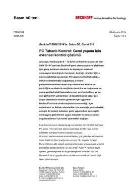 PR242014 | PC tabanlı Kontrol: Gemi yapımı için