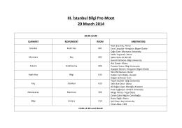 III. İstanbul Bilgi Pre-‐Moot 29 March 2014