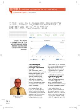 Esis Enerji Haberi Kaynak Elektrik Dergisi Eylül 2014 :Download