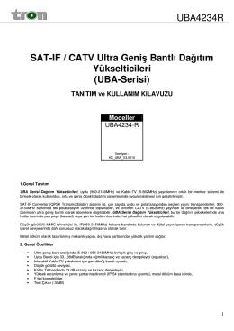 UBA4234R SAT-IF / CATV Ultra Geniş Bantlı Dağıtım