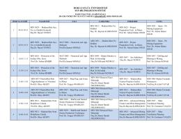 2014-2015 Güz Dönemi Fen Bilimleri Enstitüsü Ders Programı