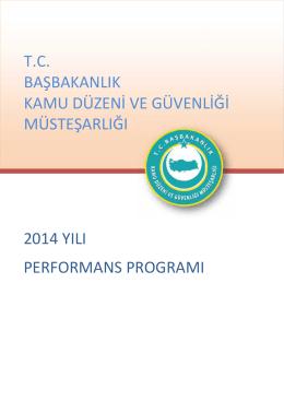 2014 yılı performans program tc başbakanlık kamu düzeni