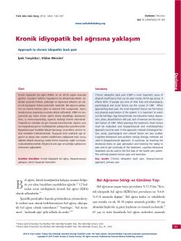000 DRL bel agrisi - Türkiye Aile Hekimliği Dergisi