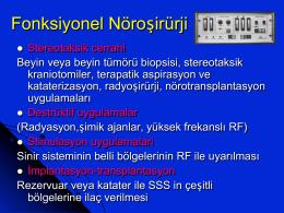 Fonksiyonel Nöroşirürji