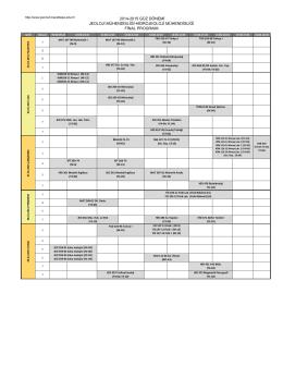2014-2015 Güz Dönemi Final programı için tıklayınız