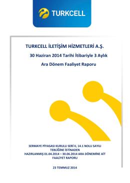 TURKCELL İLETİŞİM HİZMETLERİ A.Ş.