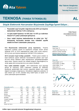 TEKNOSA (TKNSA TI/TKNSA.IS)