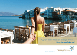 Celestyal Genel Bilgi - Celestyal Cruises Yunan Adaları Gemi Turları