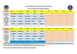 2014-2015 öğretim yılı ted antalya koleji özel lisesi üdep ve