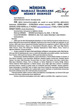 katılımıyla, 23/03/2014 – 27/03/2014 , KKTC - GİRNE