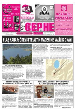18.11.2014 Tarihli Cephe Gazetesi