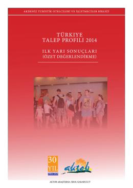 türkiye talep profili 2014