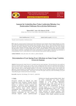 PDF İndir - Türkiye Tarımsal Araştırmalar Dergisi