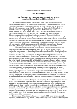 Otomatizm ve Dissosiyatif Bozukluklar Prof.Dr.Vedat
