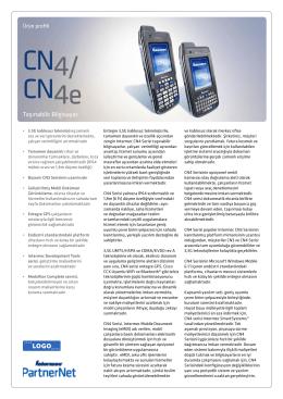 DÖKÜMAN İNDİRIntermec CN4-CN4E Tr