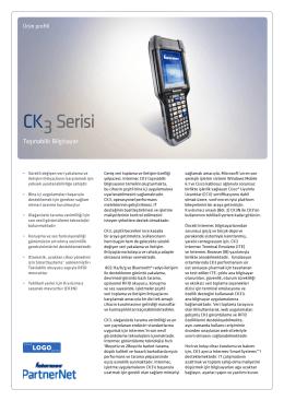 DÖKÜMAN İNDİRIntermec CK3 Brochure Turkce