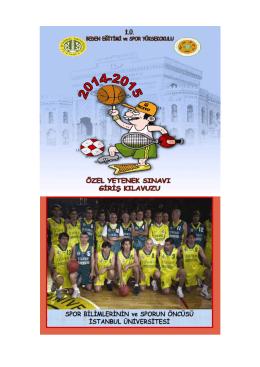 Spor Yüksekokulumuzun Değerli Öğrenci Adayları,