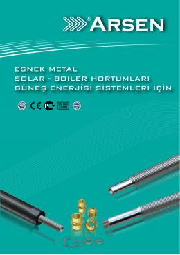 Esnek Metal Solar ve Boiler Hortumları