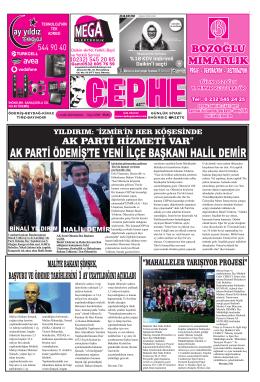 01.12.2014 Tarihli Cephe Gazetesi