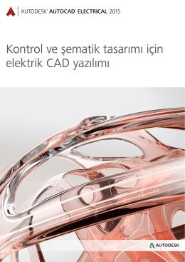 Kontrol ve şematik tasarımı için elektrik CAD yazılımı