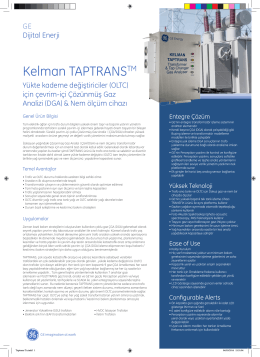 Kelman TAPTRANSTM - GE Digital Energy